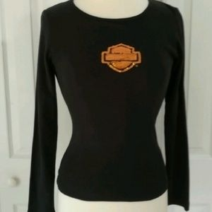 Harley-Davidson sequinned logo t-shirt
